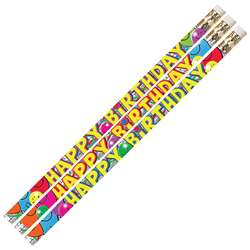 Birthday Bash 12Pk Motivational Fun Pencils By Musgrave Pencil