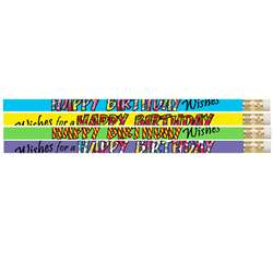 12 Pack Happy Birthday Wishes Pencil, MUS2217D