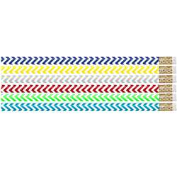 Chevron Chic Pencil Pack Of 12, MUS2540D