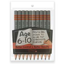 "Write Size Pencils 475"" 10 Pack, MUSWS100510"