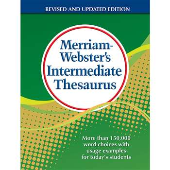 Shop Merriam Websters Intermediate Thesaurus Hardcover - Mw-1768 By Merriam-Webster