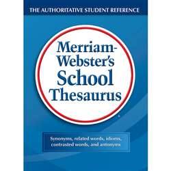 Merriam Websters School Thesaurus Hardcover By Merriam-Webster