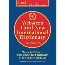 Websters 3Rd New Internat Dictionry Unabridged Har, MW-2017