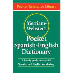Merriam Websters Pocket Spanish - English Dictionary By Merriam-Webster