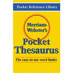 Merriam Websters Pocket Thesaurus Hardcover By Merriam-Webster