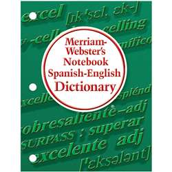 Merriam Websters Notebook Spanish English Dictiona, MW-6725