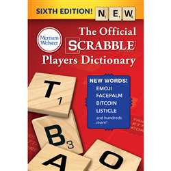 Scrabble Playr Dictionry Paperback 6Th Ed, MW-6770