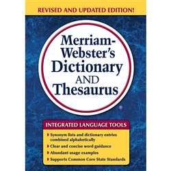 Merriam Websters Dictionary & Thesaurus Trade Pape, MW-7326