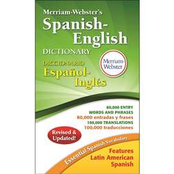 Merriam Websters Spanish-English Dictionary Paperb, MW-8248