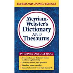 Merriam Websters Dictionary & Thesaurus Paperback, MW-8637