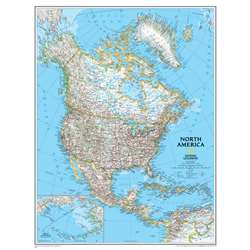 North America Wall Map 24 X 30 By National Geographic Maps