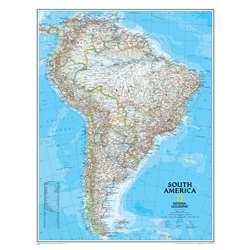South America Wall Map 24 X 30 By National Geographic Maps