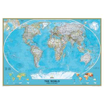 World Mural Map By National Geographic Maps