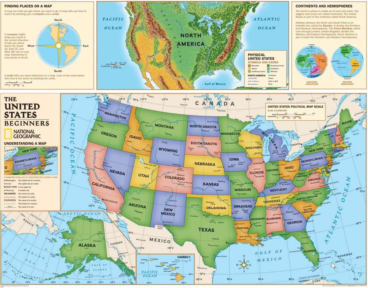 Beginners United States Map by National Geographic Maps: Maps & Map ...