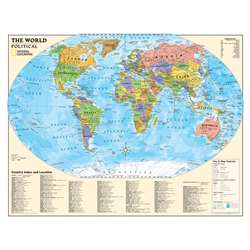 Political Series World Map By National Geographic Maps