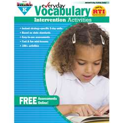 Everyday Intervention Activities For Vocabulary Gr K By Newmark Learning