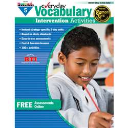 Everyday Vocabulary Gr 5 Intervention Activities, NL-0162