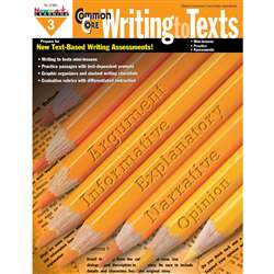 Common Core Writing To Text Book Grade 3 By Newmark Learning