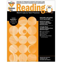 Shop Common Core Reading Gr 3 Warmups & Test Practice - Nl-2263 By Newmark Learning