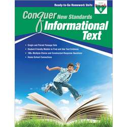 Conquer New Standards Informational Text Gr 6, NL-3594