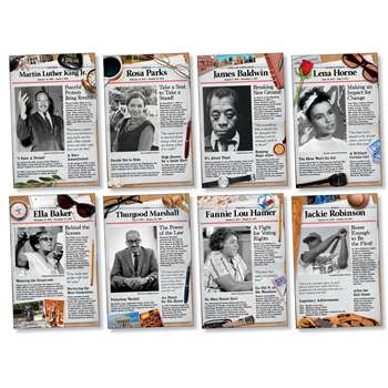 Shop Civil Rights Pioneers Bulletin Board Set - Nst3078 By North Star Teacher Resource