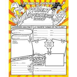 "Student Superheroes Activity Poster Fill Me "" NST3092"