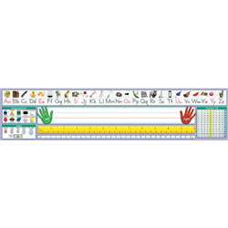 Traditional Manuscript Desk Plate 17-1/2 X 4 36Pk - Nst9040 By North Star Teacher Resource