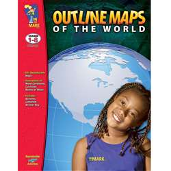 Outline Maps Of The World By On The Mark Press