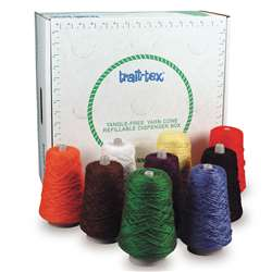 Rug Yarn Dispenser Bright Colors 9 Cones, PAC0000240