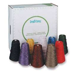Glitter Yarn Dispenser Asst Colors 4-Ply 9 Cones, PAC0000280