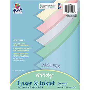 Array Multipurpose 100Sht Pastel Colors Paper By Pacon