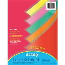 Array Multipurpose 100Sht Bright Colors 20Lb Paper By Pacon