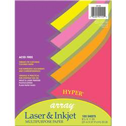 Array Multipurpose 100Sht Hyper Colors 20Lb Paper By Pacon