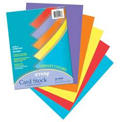 Array Card Stock Vibrant 100 Sht Assortment 5 Colors By Pacon