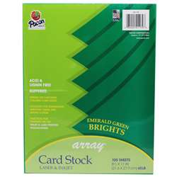 Array Card Stock Brights Emerald Green By Pacon