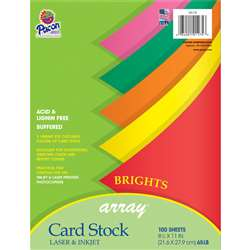 Array Card Stock Brights Assorted Colors By Pacon