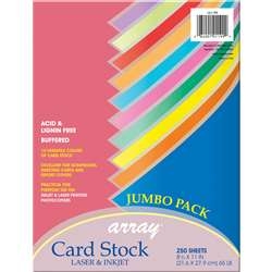 Colorful Card Stck Assrtmnt 10 Clrs 250 Sheets, PAC101199