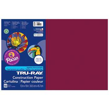 Tru-Ray Construction Paper 12 X 18 Burgundy By Pacon