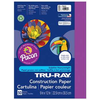 Tru-Ray Construction Paper 9 X 12 Magenta By Pacon