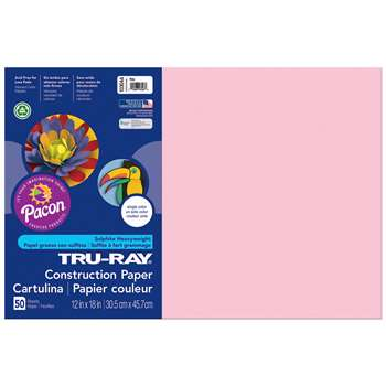 Tru-Ray Construction Paper 12 X 18 Pink By Pacon