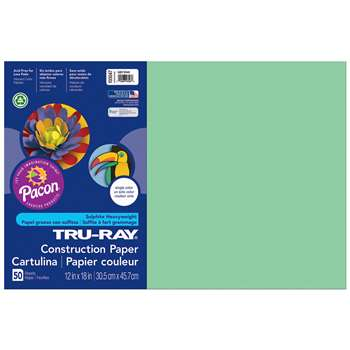 Tru-Ray Construction Paper 12 X 18 Light Green By Pacon