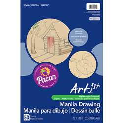 Cream Manila Drawing Paper 12 X 18 50Shts By Pacon