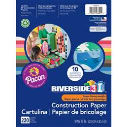 3D Construction Paper Ast Colors 9x12, PAC103645