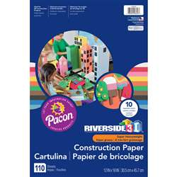 3D Construction Paper Ast Colors 12x18, PAC103646
