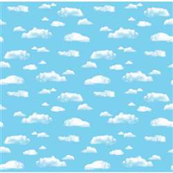 Corobuff Clouds 12-1/2 Ft Roll By Pacon