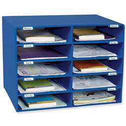 Mail Box - 10 Mail Slots Blue By Pacon