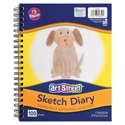 "Sketch Book 11Inx85"" 100 Shts Lightweight, PAC2349"
