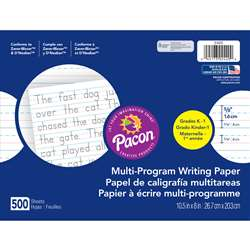 Dnealian Multi-Program Handwrting K 10 1/2 X 8 5/8 Long By Pacon