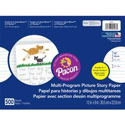 Picture Story Paper 500 Sht 12 X 9 5/8 In Long Rule By Pacon