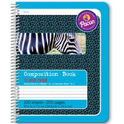 "Composition Book 1/2"" Ruled Spiral Bound, PAC2429"